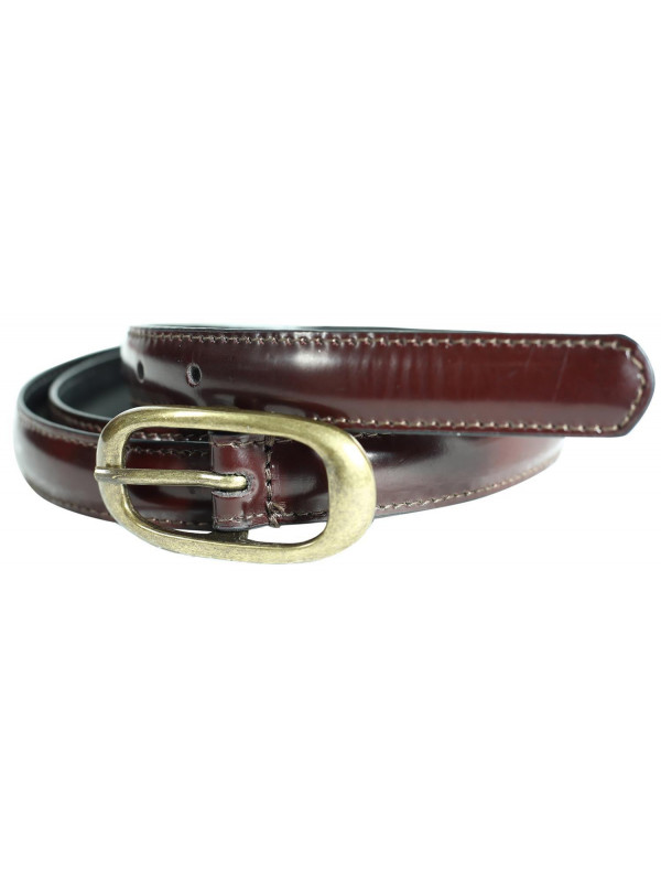 Gia Womens Antique Brass Buckle Genuine Leather Belts M-4XL