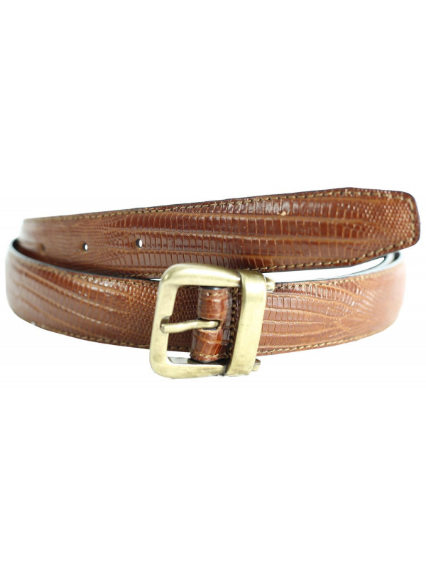 Abigail Womens Lizard Print Genuine Leather Belts M-4XL