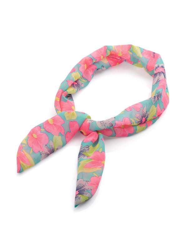 joe Ladies White and Navy Paisley Print Fascinator Headband Scarf