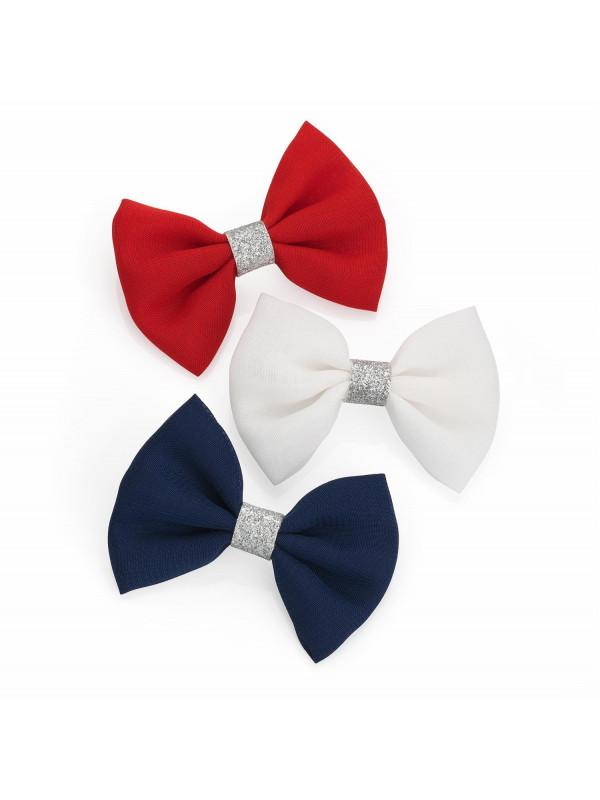 Kara Womens 6.5cm Three Piece Hair Bow Clip Hair Accessories