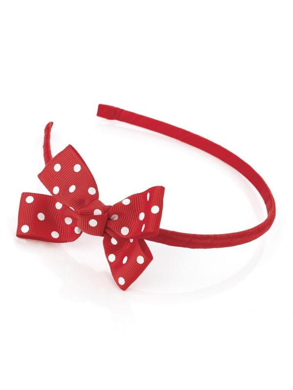Ashlynn Ladies 8cm Bow 7mm Headband Polka Dot Hair Accessories