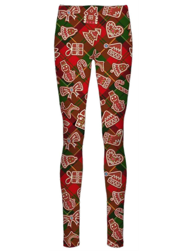 Dyna Red Tartan Check Xmas Leggings 8-34