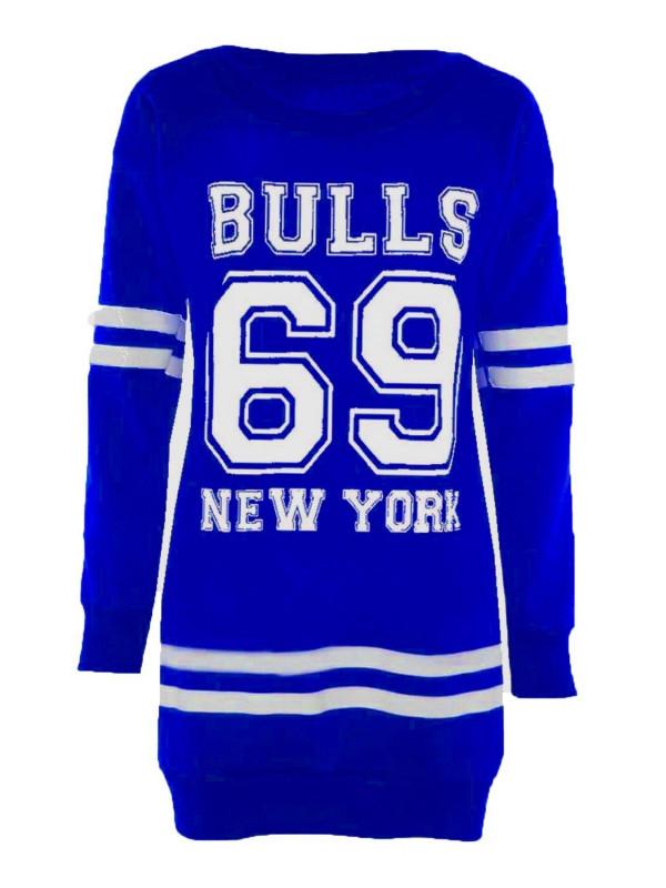 Alys Plus Size 69 Bulls Print Jumpers 16-22