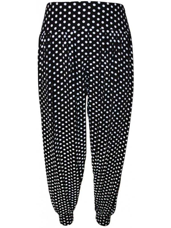Isla Black Polka Printed Harem Trouser 12-26