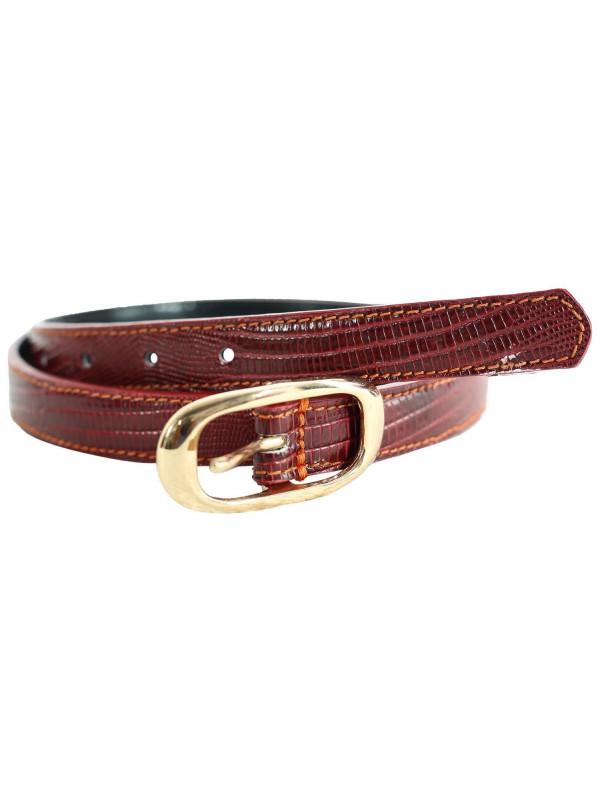 Elsie Womens Crocodile Printed Genuine Leather Belts M-4XL