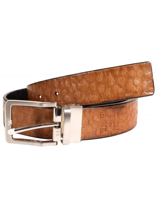 Dalton Mens Textured Genuine leather Belts S-3XL