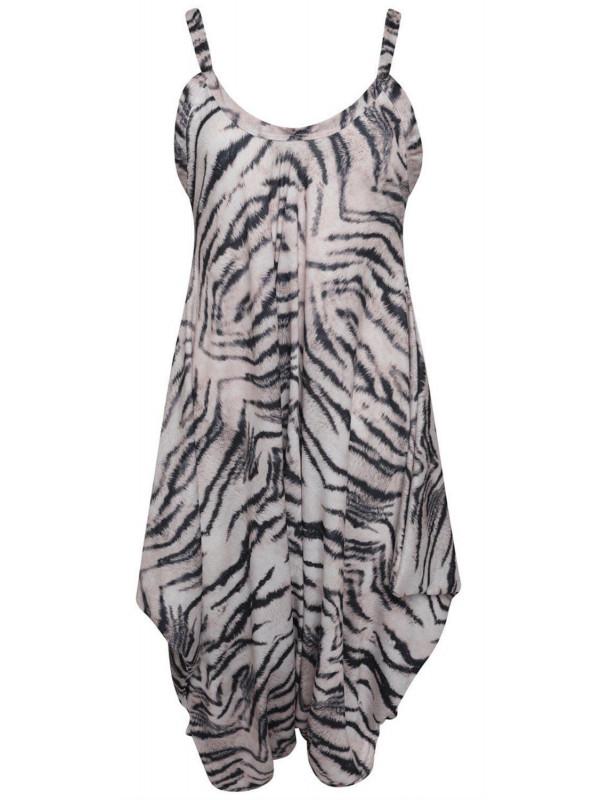 d185b411951 Maryam Plus Size Tiger Printed Baggy Lagenlook Jumpsuit 16-26