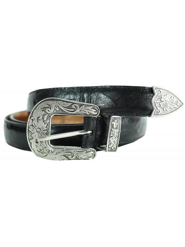 Grace Womens Floral Antique Buckle Genuine Leather Belts M-4XL
