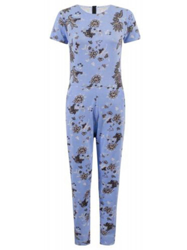 JENNY Summer Floral Print One Peice Jumpsuit Dress 8-14