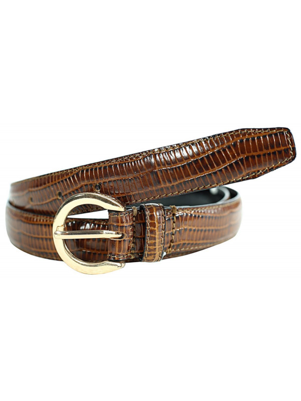 Nylah Womens Skin Textured Genuine Leather Belts M-4XL
