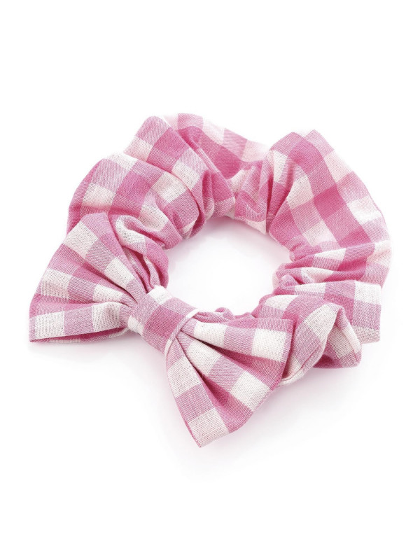 Myra Ladies 7.5cm Bow 2.5cm Scrunchie Elastic Hair Accessories