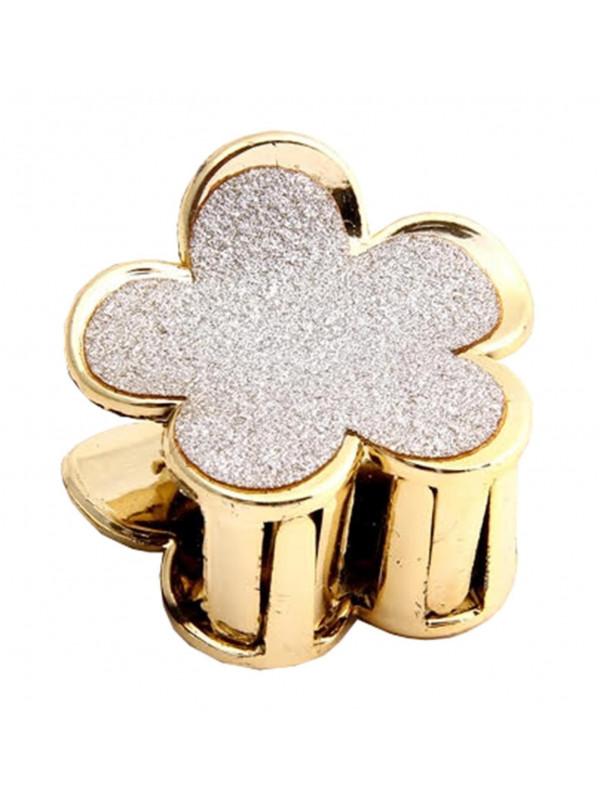 Ailsa Gold Glitter Claw Girls Hair Clips