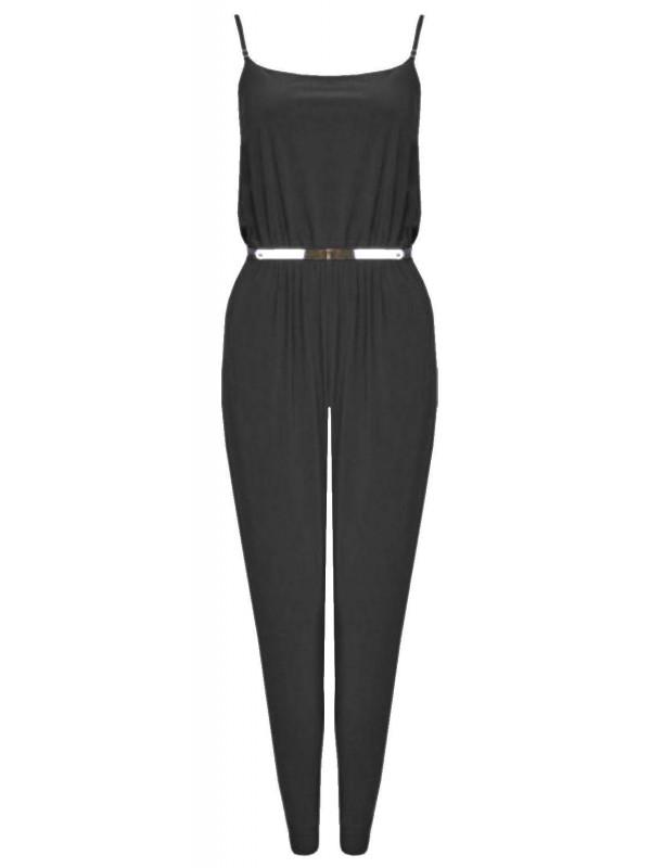 Lyla Strap Belted Jumpsuit Camisole Playsuit 8-22