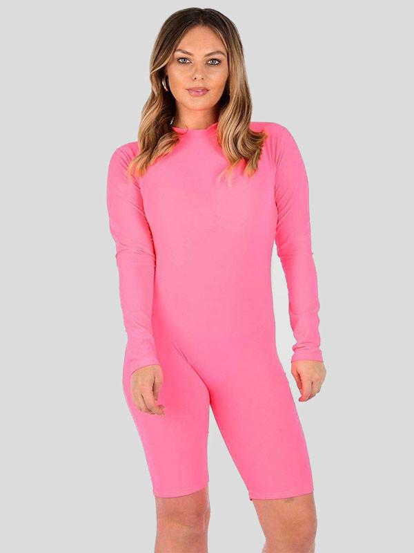Adriana  Neon Colour Fitness Playsuit Short Dress 8-14
