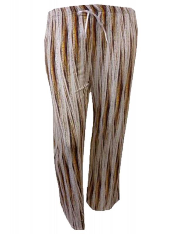 AURORA Plus Size Printed Wide Leg Trouser Pants 16-26