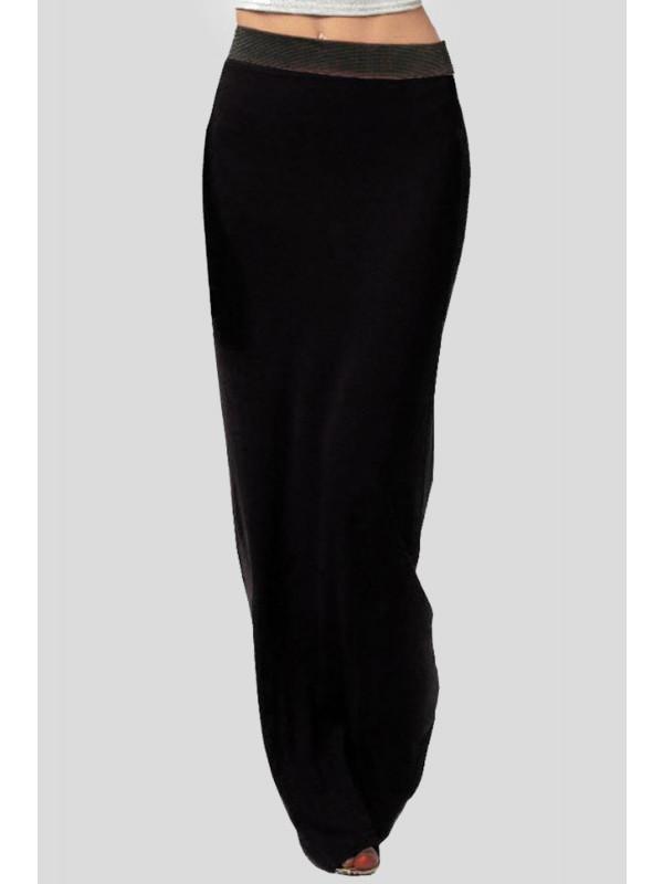 Amna Full Length Gypsy Jersey Maxi Skirt 8-14