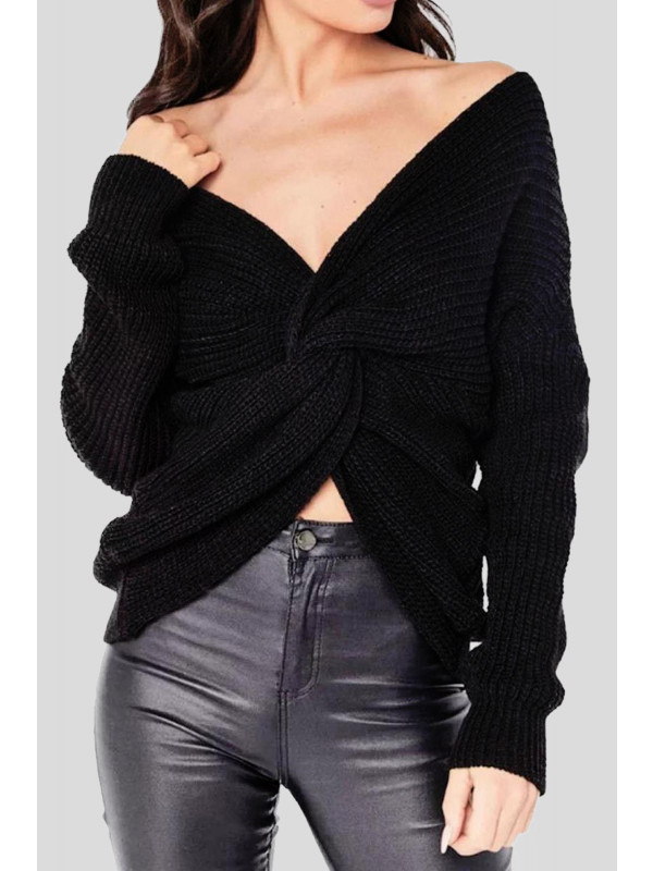 Ayra Multiway Wrap Over Front Cross Sweater Top 8-14
