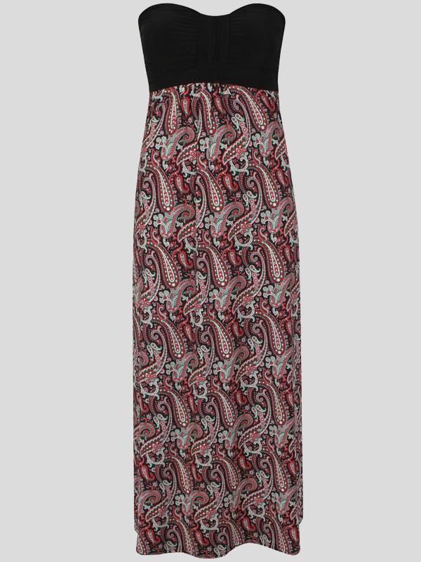 4c50674e81f Tania Plus Size Bandeau Boob Tube Floral Print Maxi Dress 16-26