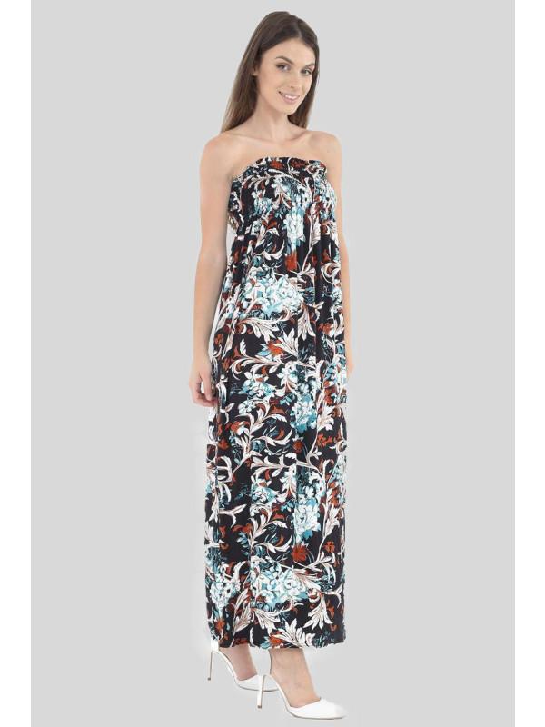 ROWAN Floral Boob Tube Maxi Dress 8-14