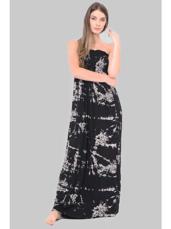 AKIRA Tye Dye Print Boob Tube Maxi Dress 8-14
