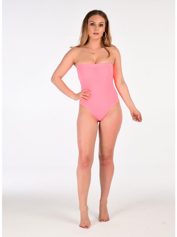 Paloma Neon Colour  Bandeau Bodysuit Body Leotard Top 8-14