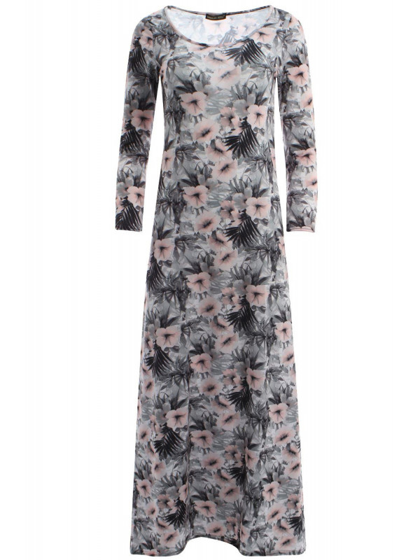 Ella Hibiscuss Floral Scoop Dress 8-14