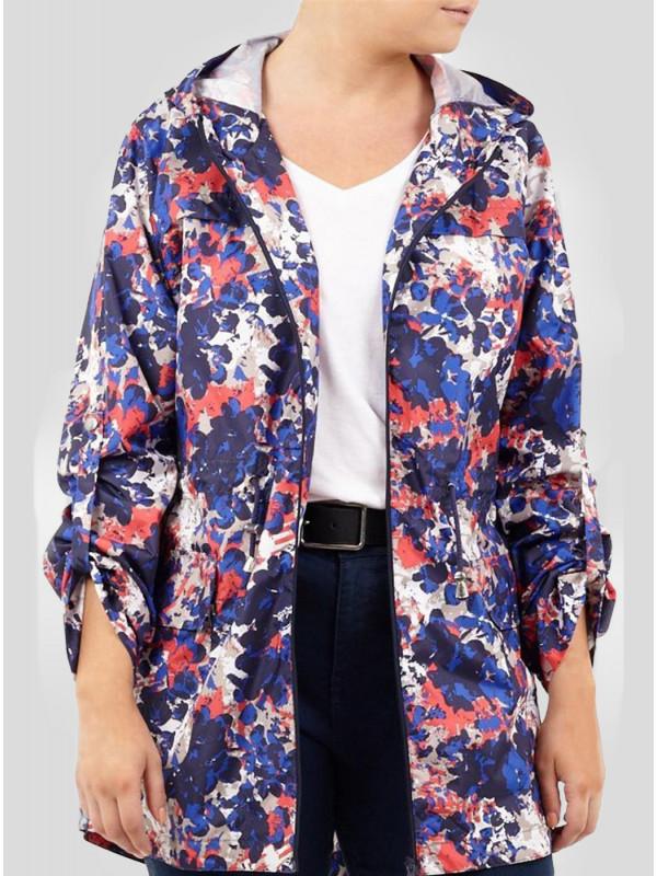 Kara Plus Size Fishtail Parka Mac Showerproof Raincoat 16-24