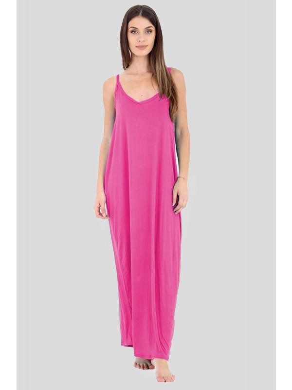 FARAH Camisole Strappy Lagenlook Baggy Italian Drape Maxi Dress 8-14