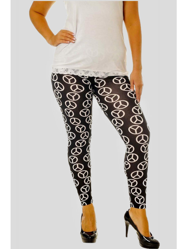 KACEY  All Over Skull Print Leggings 12-14