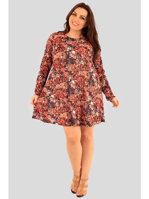 Harper Blossom Print Swing Dress 16-24