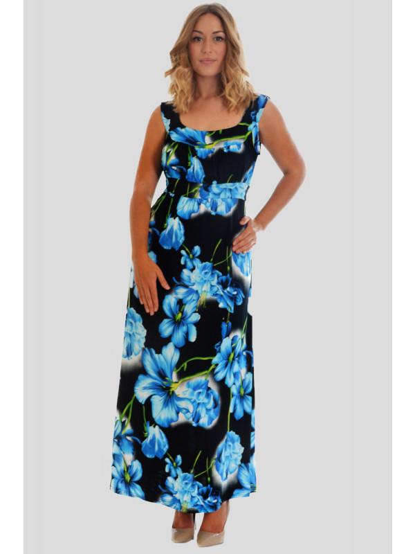 LOLA Plus Size Seasonal Floral Print Long Maxi Dress 16-28