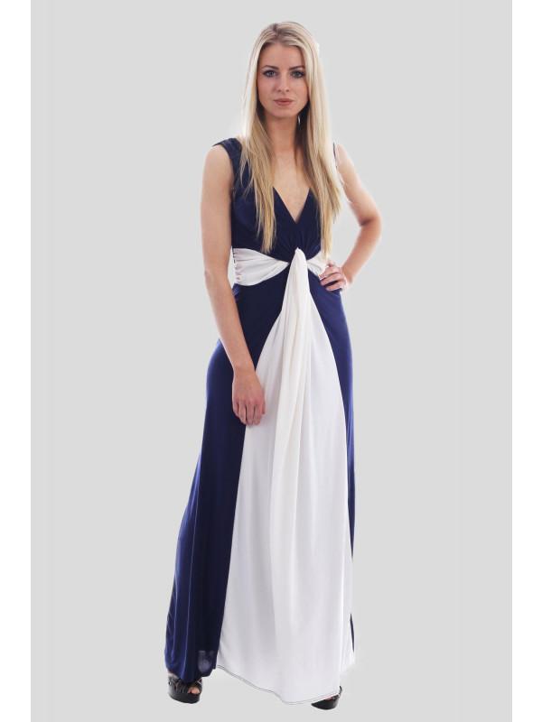 LIANA Illusion Contrast Maxi Dress 8-14