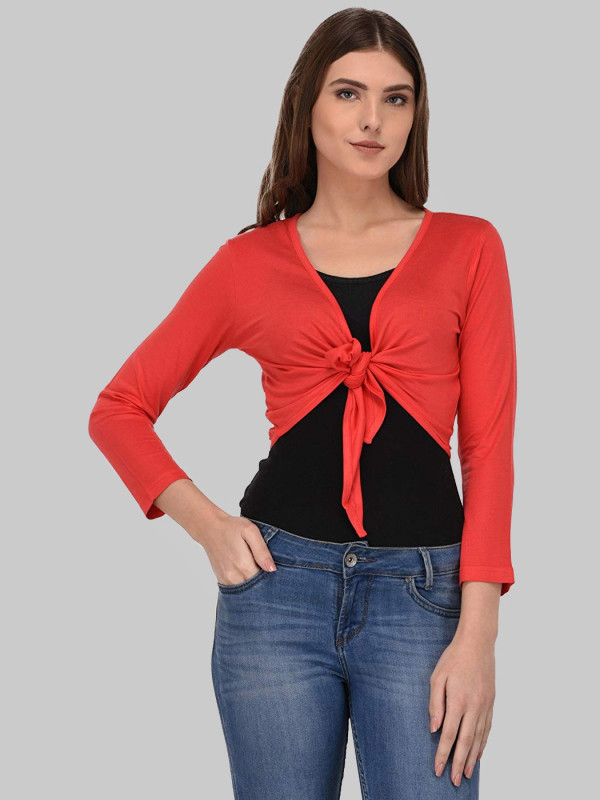 Carter Womens Tie Up Crop Bolero Shrugs Cardigans Top 14-26