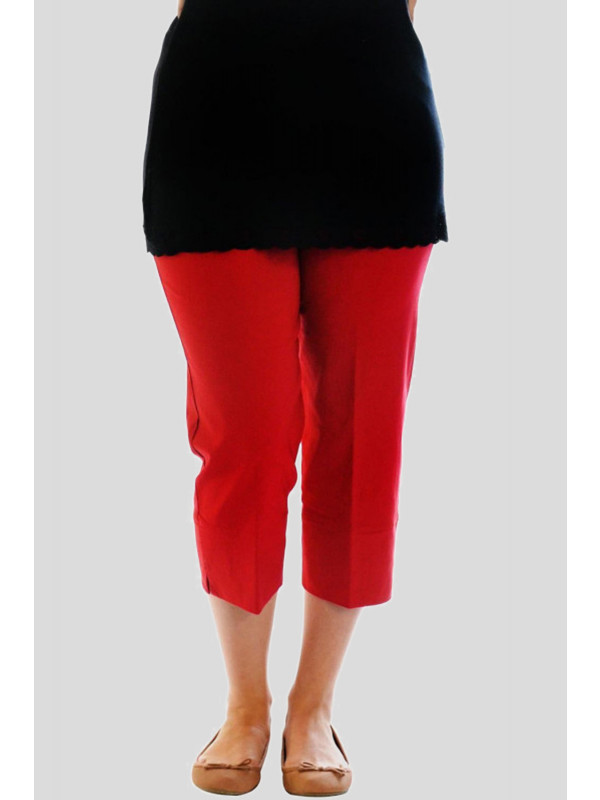 Janelle 3/4 Length Capri Trousers Pants Shorts 16-24