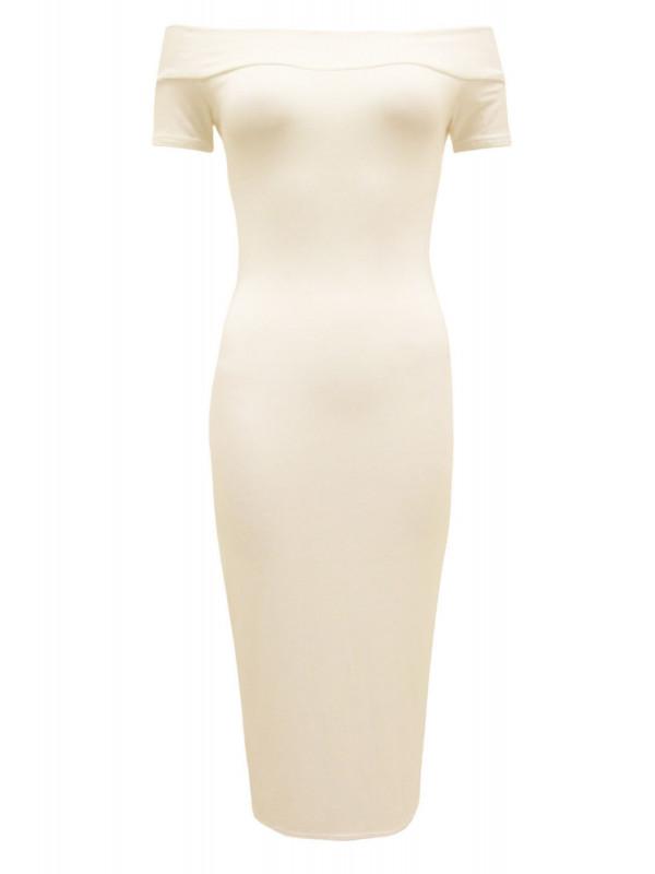 LILIAN Plus Size Long Off Shoulder Midi Dress 16-26