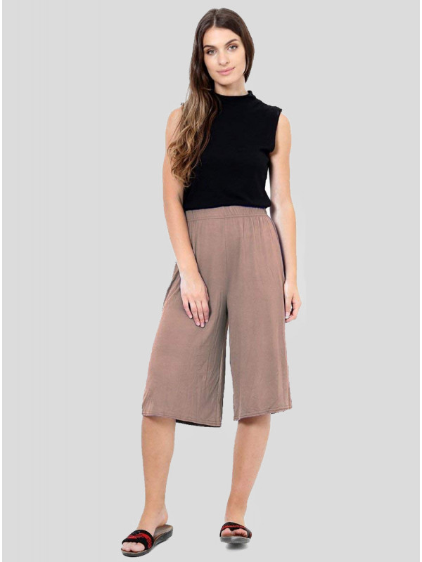 NALA Plain Elasticated Waist Stretch Mini Culottes Shorts 8-14