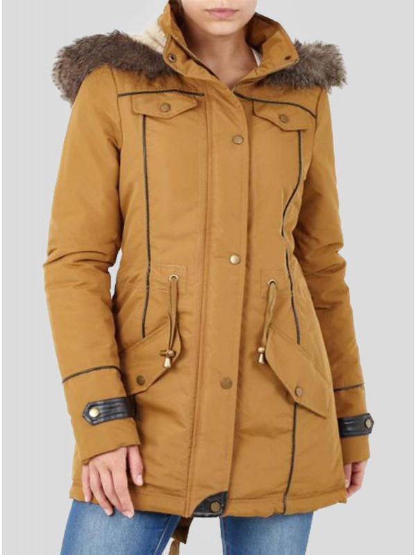 Leia Plus Size Polyester Taslan Faux Jacket Coat 16-24