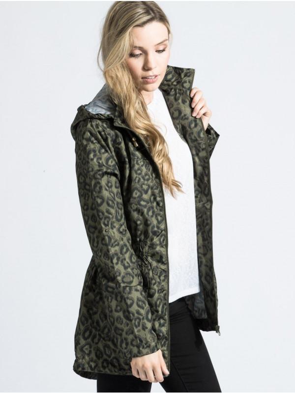Megan Leopard Print Showerproof Raincoats 18-24