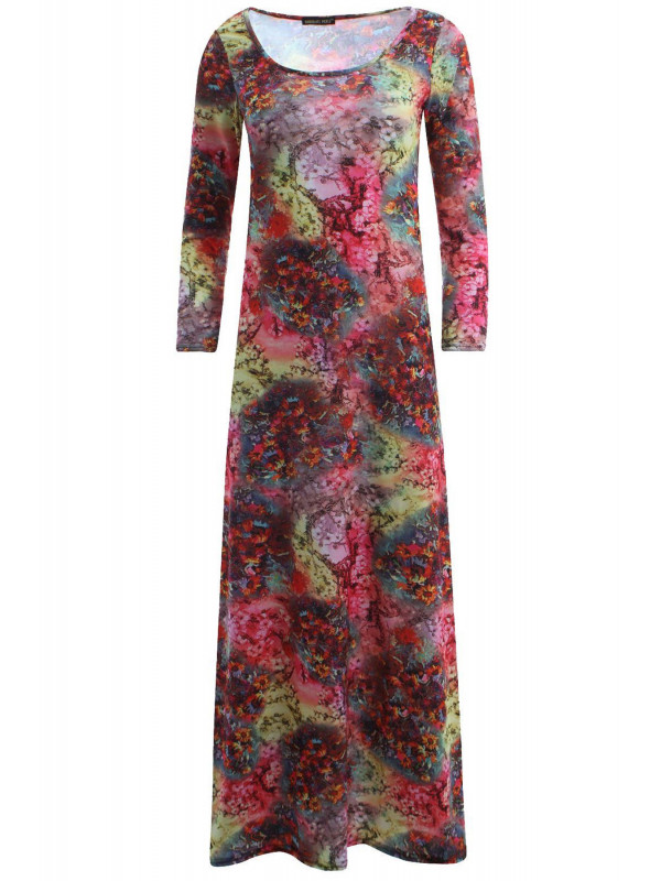 Megan Tie Dye Rose Floral Dress 8-14