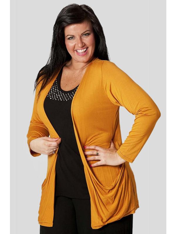 Millie Plus Size Jersey Pocket Coyfriend Cardigans 16-26