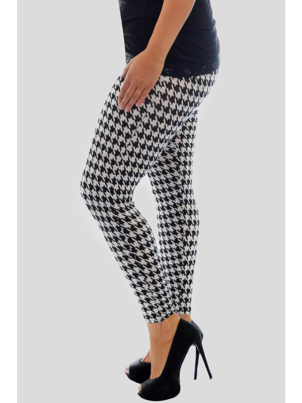 ANIYAH Dog Tooth Print Leggings 12-14
