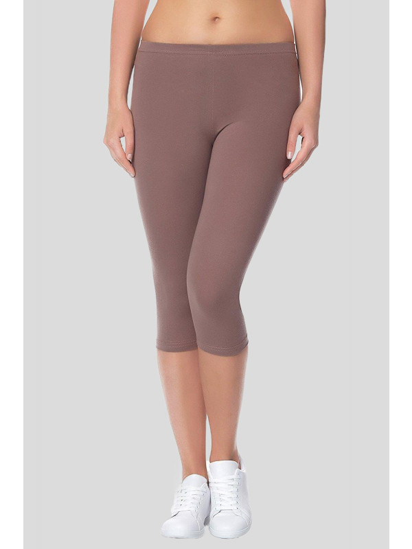 KLARA Stretchy Plain 3/4 Under Knee Leggings 12-14