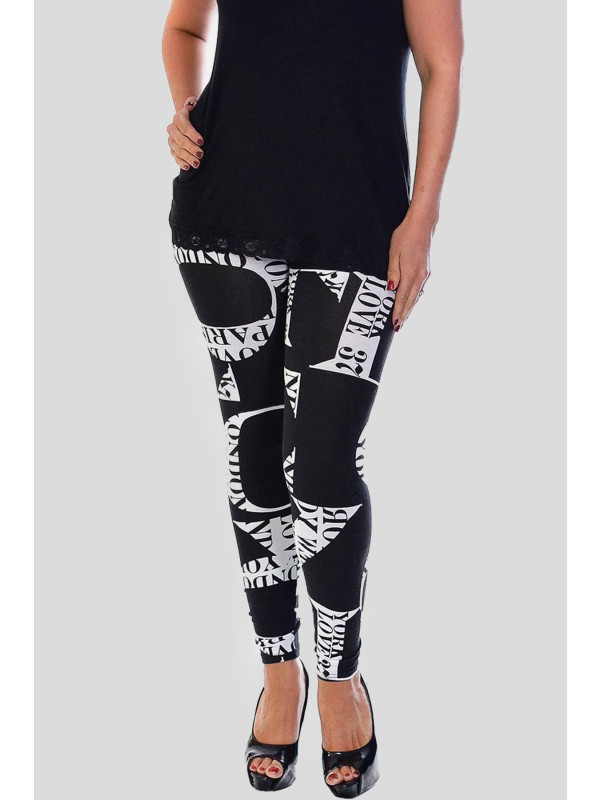 RENEE Love City Print Skinny Stretchy Leggings 12-14