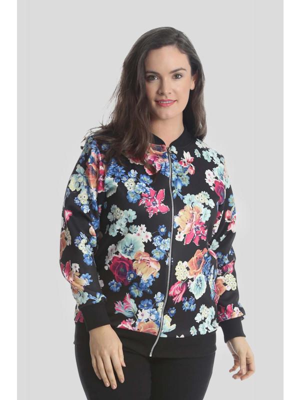 Aliyah Plus Size Zip Blazer Jacket Ribbed Coat 16-24