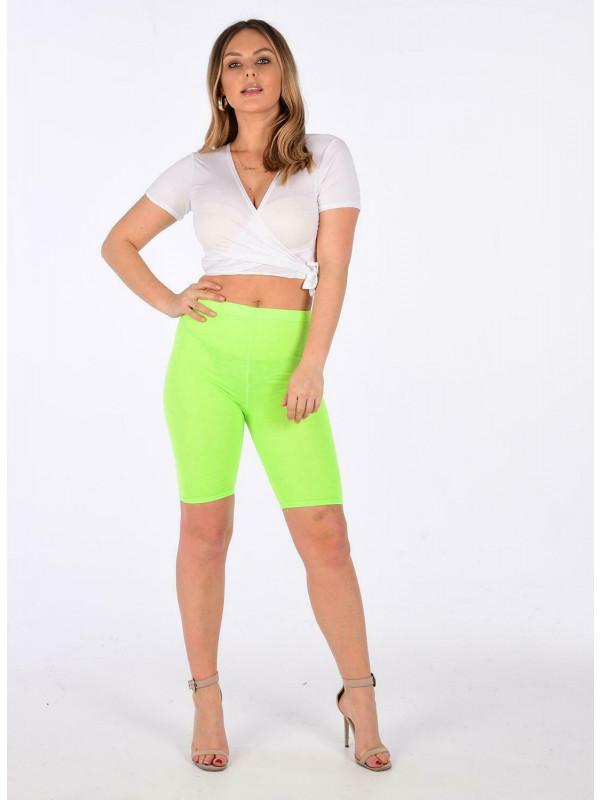 Celestina Neon Colour Midi Length  Cycling Bike Shorts 8-14