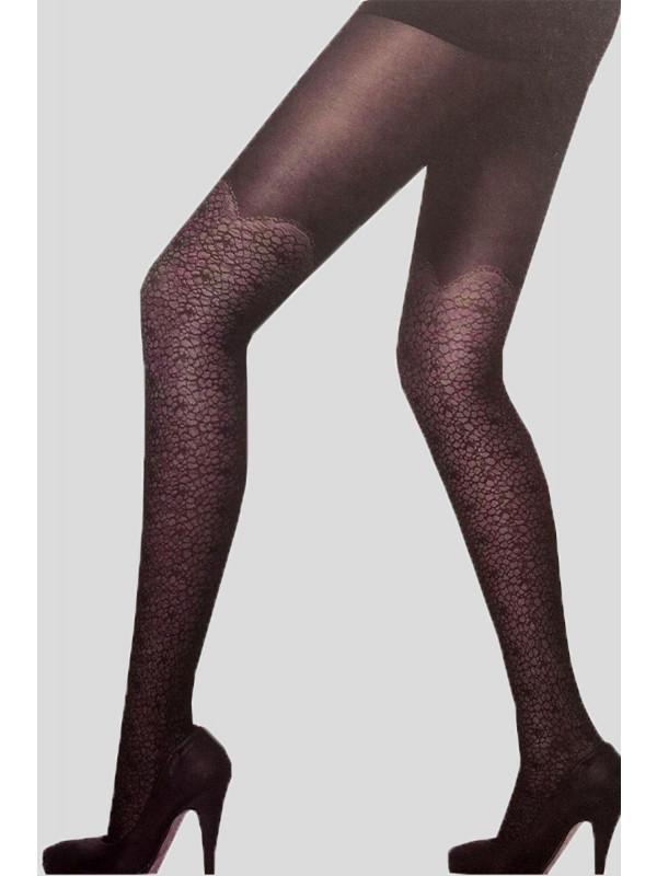 Sarah Retro Pattern Mesh Stockings
