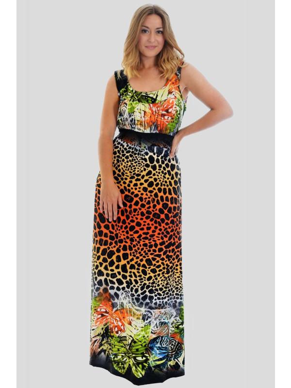PENNY Tie Back Long Maxi Dress 14-16