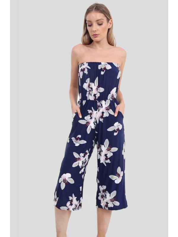 dbc8020dcd4 SORAYA Plus Size White Lilly Printed Jumpsuits 16-26