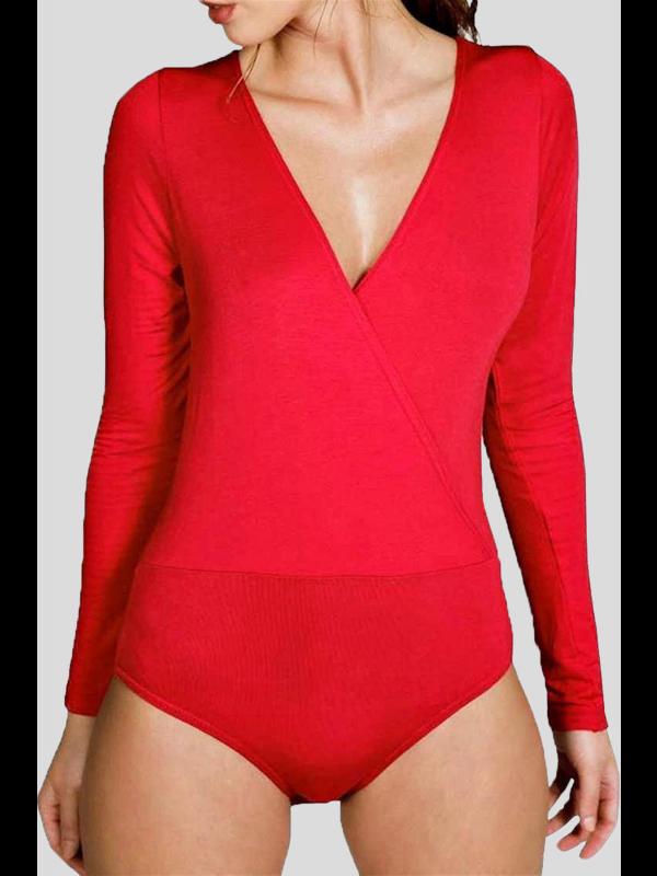 Alexandra Plain Leotard Cross Wrap Bodysuits 8-26