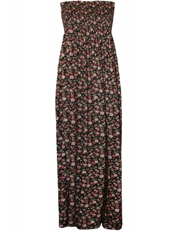 YASMINE Ethnic Boob Tube Maxi Dress 8-14
